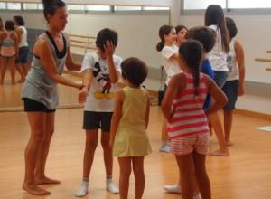 Sesión de danza de la escuela de verano