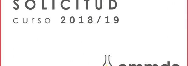 Formularios de solicitud para el curso 2018/19