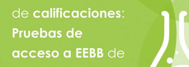 Calificaciones de pruebas de acceso de septiembre a EEBB