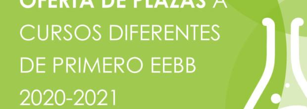 OFERTA DE PLAZAS A CURSOS DIFERENTES DE PRIMERO EEBB 2020-2021