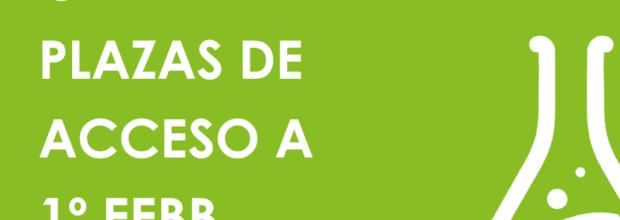 OFERTA DE PLAZAS DE ACCESO A 1º EEBB