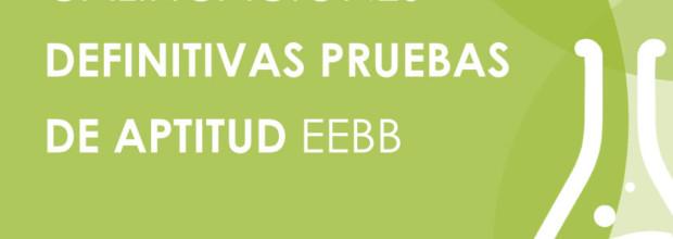 CALIFICACIONES DEFINITIVAS PRUEBAS DE APTITUD EEBB