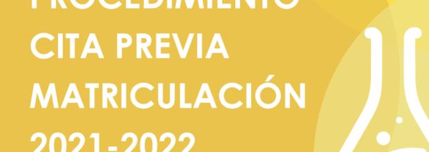 Procedimiento cita previa matriculación TALLERES 2021-2022