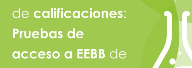 LISTADO DEFINITIVO: Pruebas de acceso a EEBB septiembre